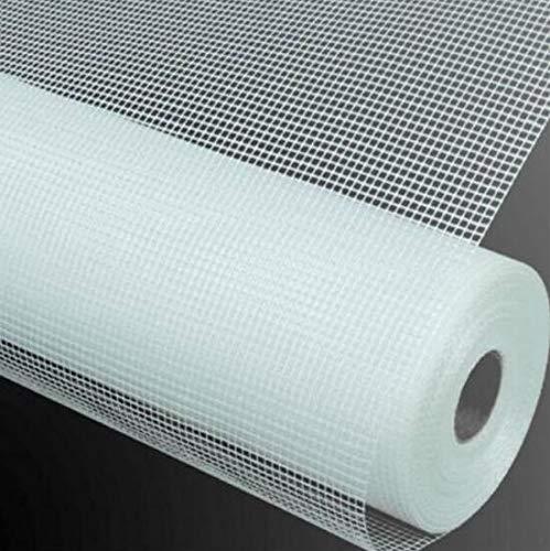 Mitef - Mosquitera autoadhesiva para ventana, fibra de vidrio, mosquitera invisible, con cinta de velcro para sujeción en la ventana, blanco