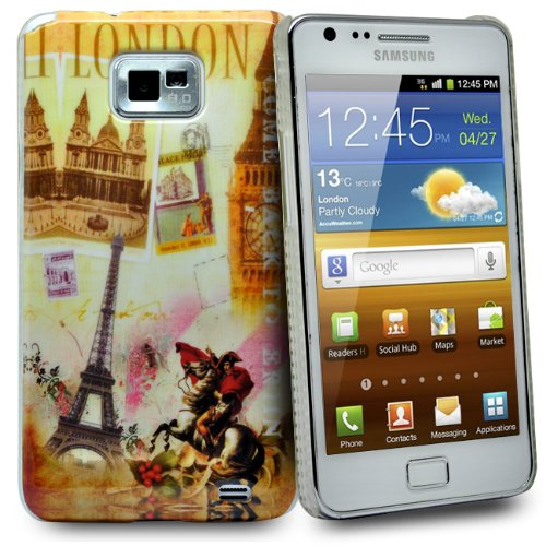 Accessory Master -Custodia rigida per Samsung Galaxy S2 i9100, motivo Parigi