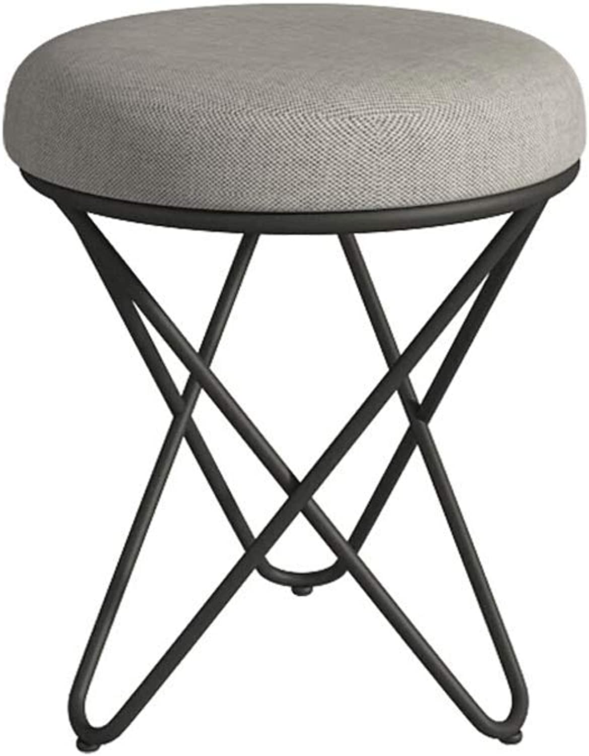 European Small Stool Fashion Home Makeup Stool Living Room Bedroom Nordic Creative Modern Minimalist Stool (color   B, Size   36  45CM)