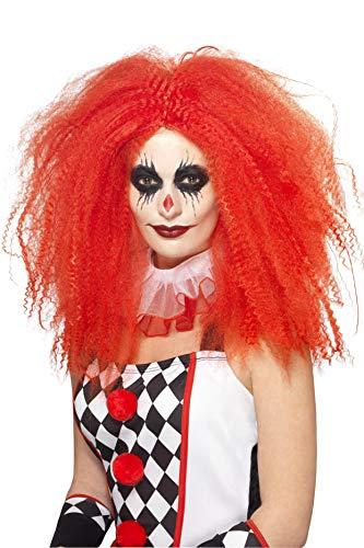 Halloween! Smiffys Clownsperücke, Rot, gekräuselt