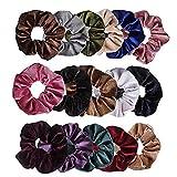 Nigoz - 16 coleteros de pelo elásticos de terciopelo para el pelo para mujeres o niñas, accesorios para el cabello, varios colores, práctico y rentable