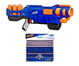 Nerf N-Strike Elite Trilogy DS-15 Toy Blaster with 15 Official Nerf Elite Darts bundle with Nerf N-Strike Elite Dart Refill, 100-Pack