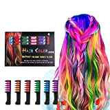 Hair Chalk LAWOHO 6 Bright Temporary Washable Hair Color Dye Comb Birthday Gifts Halloween Costume Cosplay Party Favors for Girls Kids Adults