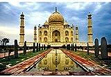 Mini Puzzles de 1000 Piezas en Miniatura DIYpara Adultos India Taj Mahal de cartón Resistente Desafío de Ejercicio Cerebral Juego de Alta dificultad Regalo para Niño 38 * 26cm