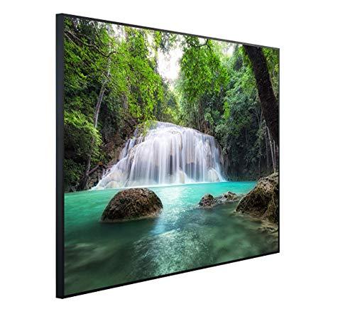 InfrarotPro C48-1200 | Infrarotheizung 1200 Watt Bildheizung 300+ Motive | Made in Germany | Geprüfte Technik | Ultra-HD Auflösung, L05: Natur Wasserfall im Dschungel, 115x100x3cm