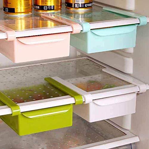 Kylskåp organiseringsbox – WENTS skjutreglage låda fack kylskåp hylla utdragbar låda fack kylskåp hylla kylskåp hållare förvaringsbox hem organiserare