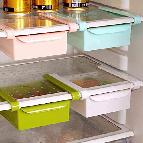 WENTS Kühlschrank Organizer Box Slider Drawer Bins Kühlschrank Regal, Kühlschrank Halter Aufbewahrungsbox, Home Organizer