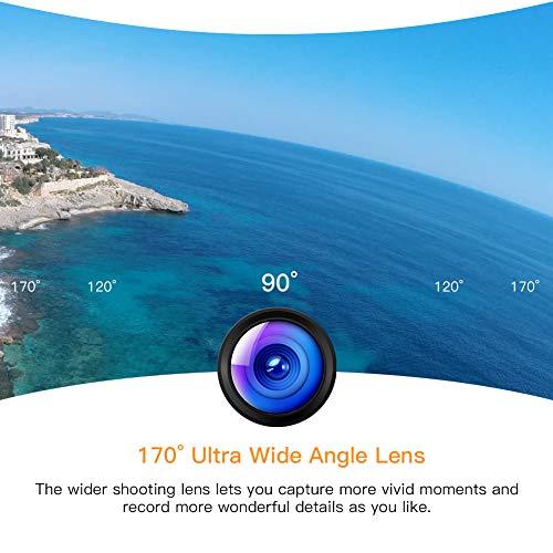 APEMAN Action Cam 4K WiFi Camera 16MP Ultra Full HD Unterwasser Kamera Helmkamera Wasserdicht mit 2.4G Fernbedienung 2 verbesserten Akkus und Montage Zubehör Kit - 5
