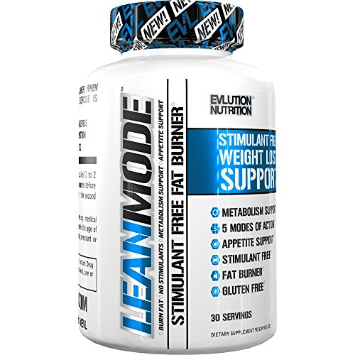 Evlution Nutrition Lean Mode - Complete Stimulant-Free Weight Loss Support and Diet System with Green Coffee, Carnitine, CLA, Green Tea, Garcinia Cambogia for Fat Burning and Metabolism, 30 Servings