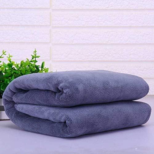 MYC Badetuch und Gesichtstuch Schnelltrocknende Spezial Große Handtuch Dicke Mikrofaser Saugfähige weiche Handtücher 100x200cm grau