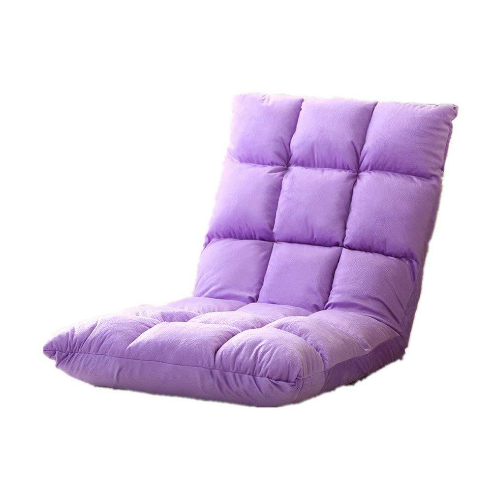 icey もっちり低反発座椅子 ふあふあフロアチェア ー生地で最高のすわり心地 低反発ウレタン&マイクロファイバ42段階調整 幅50cm