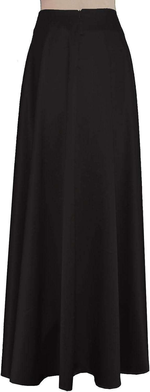 E K Women's long bridesmaid skirt Maxi evening formal wedding prom skirt