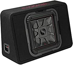 Kicker TL7T Single Square 600 Watt 12 Inch 2 Ohm Solo Baric Subwoofer with Thin Enclosure and Big Bass for Car Audio Stereo Systems, Black