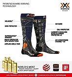 X-Socks Ski Rider 4.0 Invierno Calcetines De Esquí, Hombre, Stone Grey/Melange Blue, 42/44