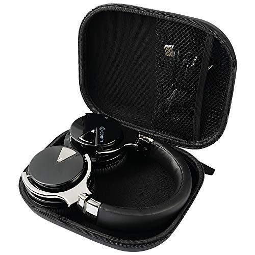 COWIN E7 Tailor-Made Headphone Case, Waterproof Zipper Hard Travel Portable Headphone Carrying Case, Perfectly Fit for E7 Over Ear Headphones - Black