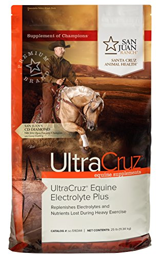 UltraCruz Equine Electrolyte Plus Supplement for Horses, 25 lb, Pellet (93 Day Supply),sc-516344