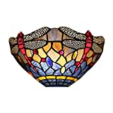 CHEYAL Luz De Pared Bowl Shade Lámpara Tiffany Aplique 8 Inchc Lámpara De Pared Industrial Retro Vintage Aplique