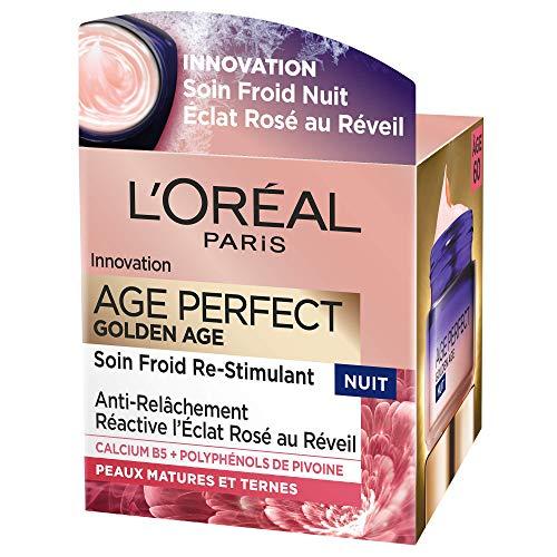 L'Oréal Paris Age Perfect Golden Age, trattamento notte anti cedimento e ridensificante, 50ml