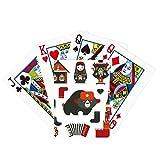 Oso Acordeón Muñeca Rusia Poker Jugando Tarjeta mágica Divertida Juego de mesa