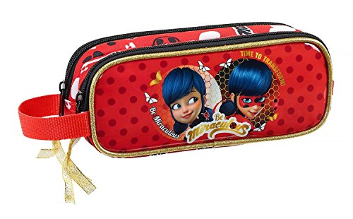 Safta Estuche Ladybug 'Sparkle' Oficial Escolar 210x60x80mm
