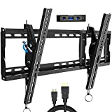 Tilt TV Wall Mount Bracket with Low Profile Design for Most 32-83 Inch LED Plasma Flat Screen Curved TVs 165 Lbs with VESA 600x400mm,JUSTSTONE Leveled After Installation,TV Mount up to 24' Studs