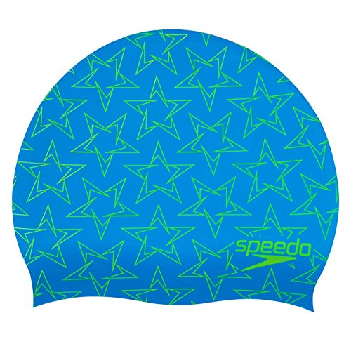 Speedo Unisex-Youth BoomStar Junior Silicone Cap Swimming Caps, Pool/Fluro Yellow, One Size