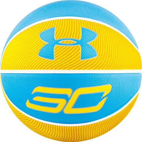 Under Armour Stephen Curry - Balón de Baloncesto para Exteriores, Color Amarillo/Azul, tamaño 29.5 / Official Size/Size 7