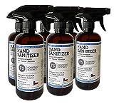 Hand Sanitizer - 80% Ethanol Alcohol - World Health Organization Formula - 16 fl. oz. 6 Pack - Liquid Spray - Made in USA
