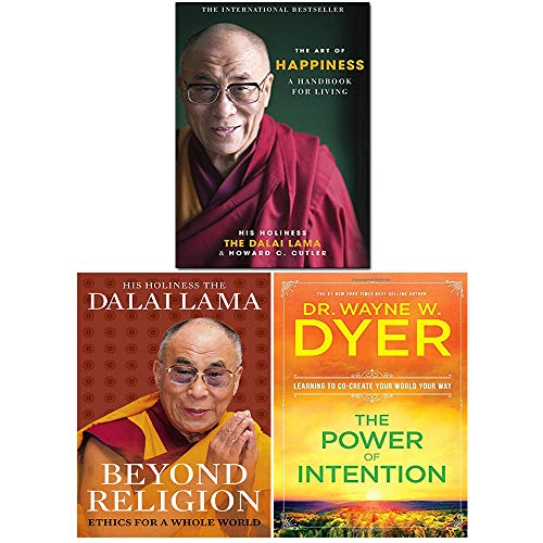 Price comparison product image Power Of Intention,  Art of Happiness,  Beyond Religion 3 Books Collection Set