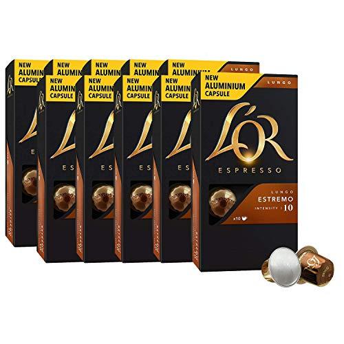 L'OR Espresso Kaffee Lungo Estremo Intensität 10 - Nespresso® kompatible Kaffeekapseln aus Aluminium 10 Packungen mit 10 Kapseln (100 Getränke)