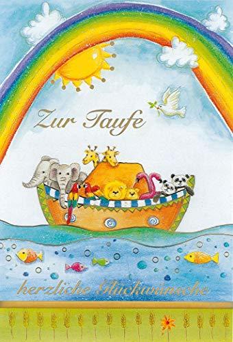 bsb Wenskaart wenskaart voor de doopdoop met ark van Noach en regenboog