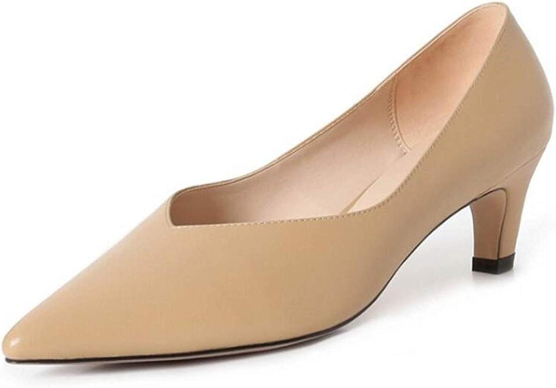 HhGold Flache Schuhe mit flachem Absatz für Frauen Flache Flache Flache Schuhe mit flachem Absatz für Damen (Farbe   Aprikose, Größe   35)  6914c9