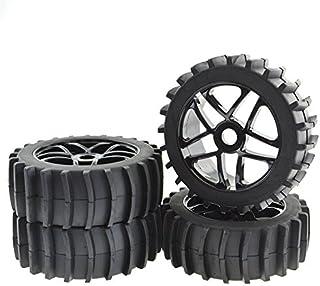 JIUWU 4pcs Beach Desert Snow Tires and Wheels Hex 17mm 1:8 RC Off Road Buggy Baja