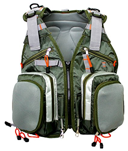 Sleeping Giant Fly Fishing Vest Backpack Sling for Tackle, Gear, Trout Flies, Outdoor Equipment, Rod and Reel