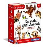 Clementoni - 16143 - Sapientino - Tombola degli Animali - gioco tombola con tessere illustrate - gioco educativo 5 anni - gioco da tavolo - Made in Italy
