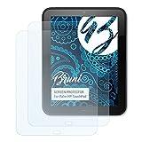 Bruni Schutzfolie kompatibel mit Palm HP TouchPad Folie, glasklare Bildschirmschutzfolie (2X)