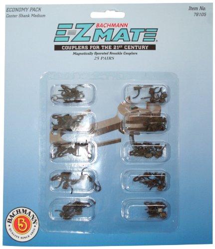 Bachmann Trains - E-Z MATE COUPLERS - ECONOMY PACK (25 pair) - CENTER SHANK - MEDIUM - HO Scale