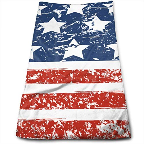 wteqofy Happy 4th of July USA Independence Day Bath Hand Towels Dish Cloth Machine Washable Kitchen Towels Tea Towels for Drying Cleaning Cooking Baking