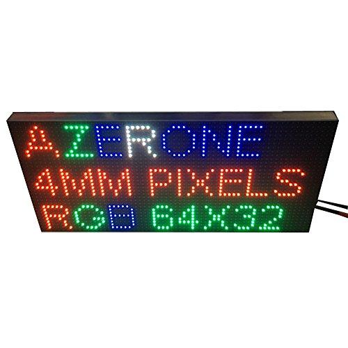 AZERONE Led matrix pixel 4MM Pitch led panels digital led module indoor led display screen rgb led board 2121SMD 64x32 Dots (P4 256x128mm)