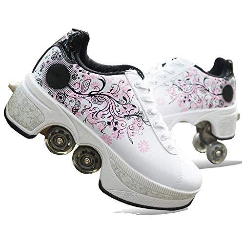 Walking Schoenen Vervorming 2-In-1 Automatische Wandelen Schaatsen Schoenen Onzichtbare Wielen Schoenen Multifunctionele Vervorming Skates Roller
