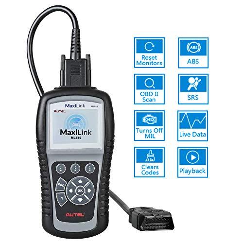 Autel Lecteur de Code OBD2 - MaxiLink ML619 Outil de Diagnostic Auto avec Fonctions OBD2 Complètes et Diagnostic de ABS/SRS (Airbag)