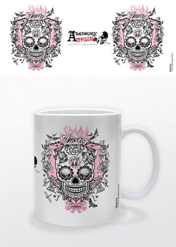 Alchemy Mug en céramique Motif crâne Amore