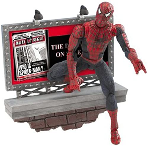 Spider-man 2 Super Poseable on Ledge w  Wall Mountable base 15 cm Figure