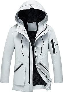 Nevera Fashion Men's Rain Snow Jacket Hooded Fleece Coat with Pocket