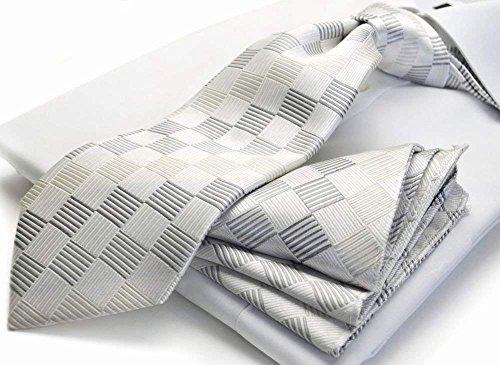CPN-53(ヒューゴバレンチノ)HUGOVALENTINO礼装ネクタイ&ポケットチーフセット