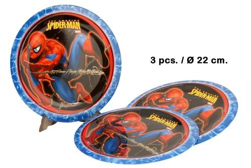 Stor - Lot de 3 Assiettes Spiderman