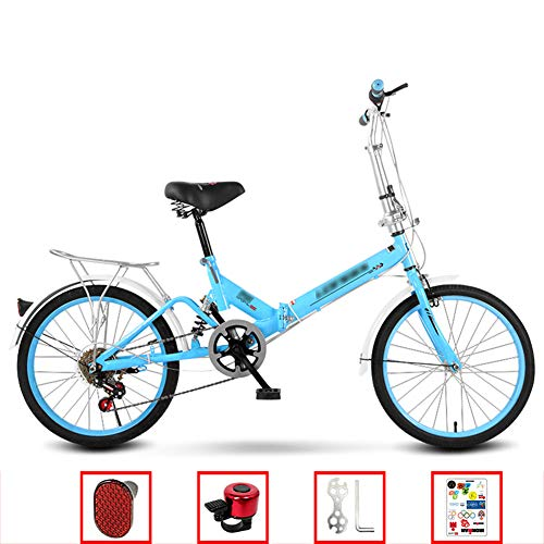Sale!! YSHCAVariable Speed Folding Bike, 20 Inch Low Step-Through Steel Frame Foldable Compact Bicyc...