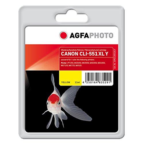AgfaPhoto APCCLI551XLY CLI-551 XL Y Druckerpatrone für Canon, gelb