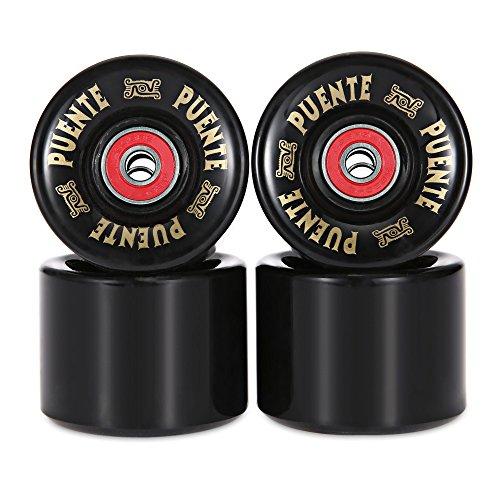Juego de 4 ruedas para tabla de skate, 60x 45mm