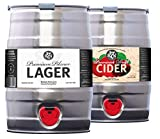 Severn Brewing Pale Ale 5L Mini Keg Double Mixed Case Trial Pack (Premium Lager & Cider)